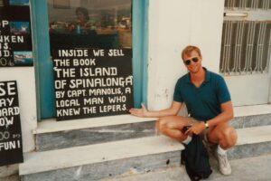 The Author in Agios Nikolaos, Crete, 1985