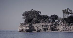 The coast at Santa Barbara where my novel Requiem Lake begins